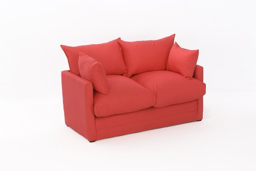 Leanne Sofa Bed in RED Cotton Drill