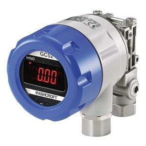 Ashcroft Type GC52 Rangeable Wet/Wet Differential Pressure Transmitter, +/-0.50% FS Accuracy, 1/4