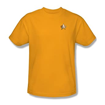 Star Trek T-Shirt Engineering Emblem Deep Space Nine Uniform S
