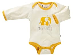 Babysoy Unisex Baby Oh Soy Bodysuit - Elephant - 0-3 Months