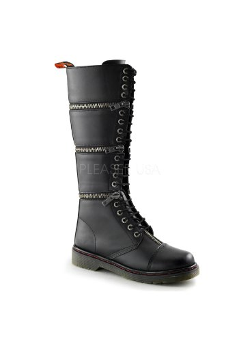 Demonia Disorder-418 Men'S Hot Fashion 17 Eyelet Combat Boot, Color:Black Pu, Size:12