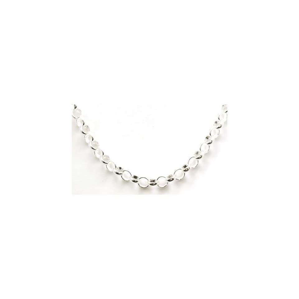The Olivia Collection Sterling Silver 18 Inch Round Link Necklace Chain
