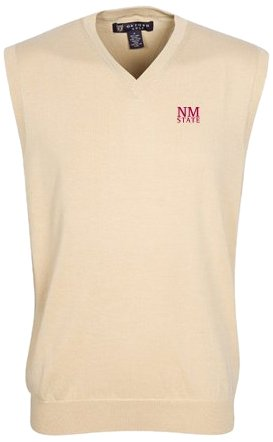 Oxford NCAA New Mexico State Aggies Mens Bristol Sweater Vest by Oxford