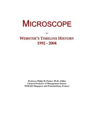 Microscope: Webster'S Timeline History, 1992 - 2004