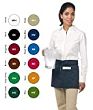 """Chef Revival 605WAFH Poly Cotton """"Front of the House"""" Waist Apron, 23 by 12-Inch, Red"""