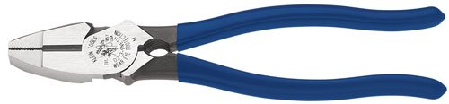 Klein Tools D213-9Neth 9-Inch High-Leverage Side-Cutting Pliers-Lineman'S Bolt-Thread Holding