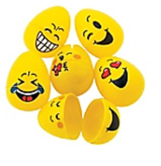 Emoji Easter Eggs, 48-Pack, 4 Dozens Hinged Egg (Egg Vending Machine compare prices)