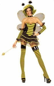 Queen Bee Sexy Adult Halloween Costume Size 8-12 Medium/Large