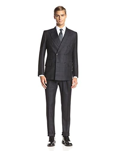 TOM FORD Men's Windowpane Peak Lapel 3-Piece Suit