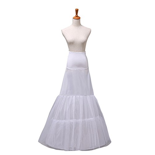 Clear Bridal Wedding Dress Petticoat Underskirt Crinoline Skirt Slip C12008