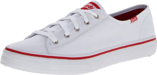 Keds Women's Double Up Core Fashion Sneaker,White,6.5 M US
