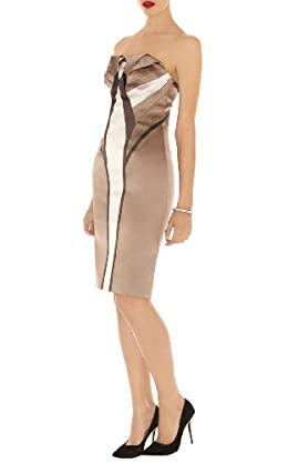 Signature Satin Strapless Dress