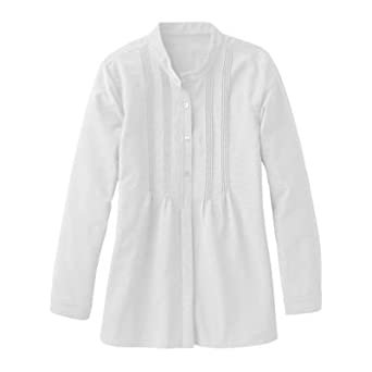 plus size perfect pintuck poet shirt white 3x at amazon