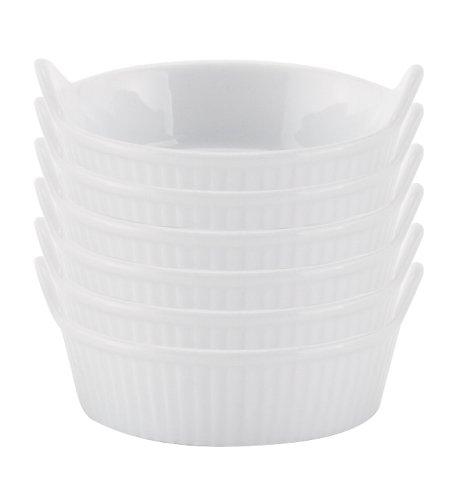 HIC 1-ounce Porcelain Mini-Eared Ramekin Set of 6