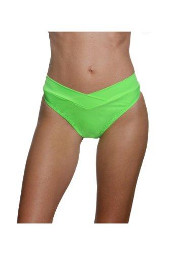 Blue Sky Swimwear Women'S V-Front Bottom Solid Lime (Bottom Only Size Xl)