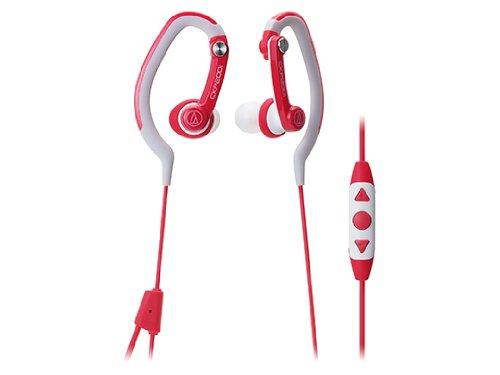 audio-technica カナル型イヤホン iPod/iPhone/iPad専用 防水仕様 スポーツ向け レッド ATH-CKP200i RD
