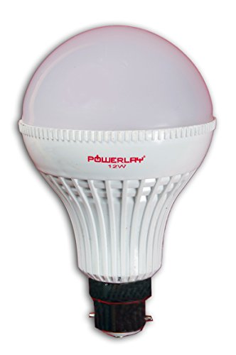Powerlay 5W Plastic LED Bulb (White, Pack of 6)