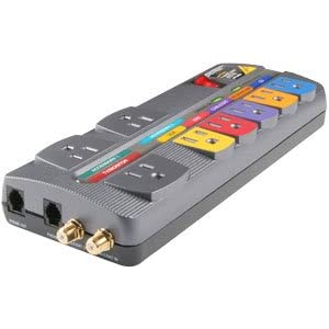 Monster Cable MP HTS 700 Home Theater PowerCenter With Coax , Cable TV, Antena, Satellite, And phone Line Surge Protection