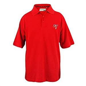 Tampa Bay Buccaneers Mens Cutter and Buck DryTec Championship Polo by Cutter & Buck
