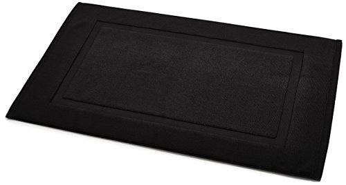 amazonbasics-tappetino-per-il-bagno-con-fascia-decorativa-colore-nero