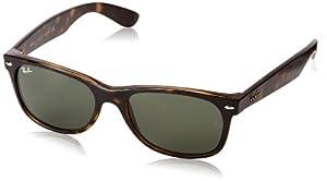 Ray-Ban RB2132 New Wayfarer  Sunglasses, Tortoise Frame/G-15-XLT Lens, 55 mm