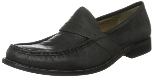 Hush Puppies Men's Caines Black Slip On H1392010W 12 UK