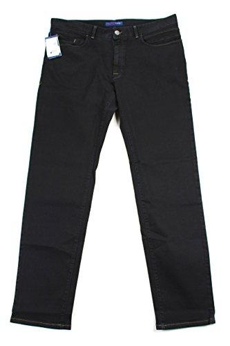 trussardi-mens-classic-straight-leg-jeans-size-36-regular-black-cotton