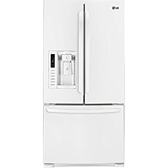 LG LFX25978SW 24.9 Cu. Ft. French Door Refrigerator with Ice and Water Dispenser - White