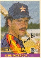 John Mizerock Houston Astros 1984 Donruss Autographed Hand Signed Trading Card. by Hall+of+Fame+Memorabilia
