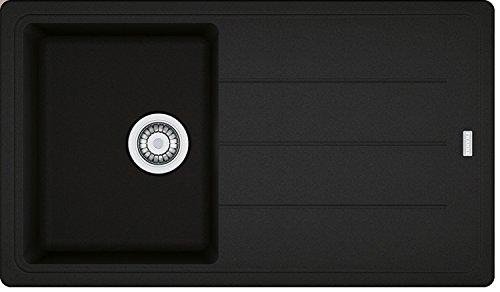 Franke Basis BFG 611-86 Einbau-Spüle Fragranit Onyx Siebkorb- Excenterventil