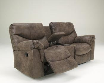 Alzena Double Reclining Loveseat With Console Power front-890686