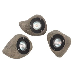 Searchlight 0 Excalibur Garden Ponds Rock Lights Set Of 3 Max 3x20w Low