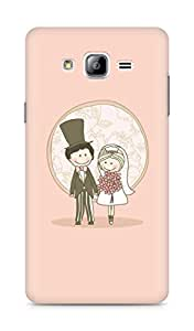 Amez designer printed 3d premium high quality back case cover for Samsung Galaxy ON7 (Just Married)