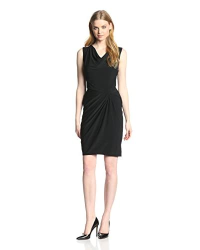 Anne Klein Women's Draped Dress with Beaded Shoulders