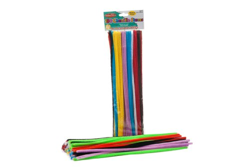 Creative Arts by Charles Leonard Chenille Stems, 6 mm x 12 Inch, Assorted Colors, 100/Bag (65600)