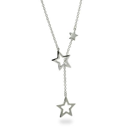 Cascading Stars Sterling Silver Lariat