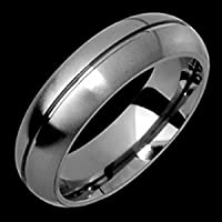 Hitite - size 9.25 Classic Titanium Band with Single Groove