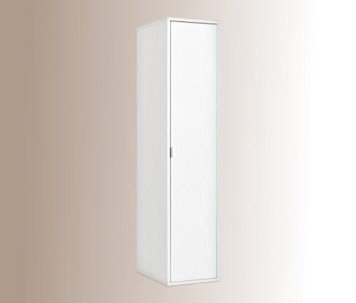 Kleiderschrank-Schlafzimmerschrank-Wei-4-Einlegebden-1-Kleiderstange