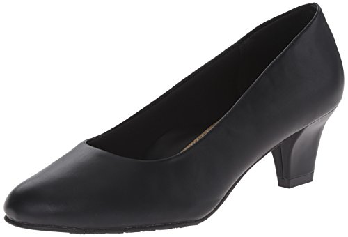 Soft Style by Hush Puppies Women's Gail dress Pump, Black Leather, 12