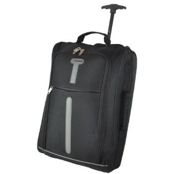 Lightweight Hand Luggage Travel Holdall Baggage Wheely Suitcase Cabin Approved Bag Ryanair Easyjet And Many More - 1.4k - 40 Litres (Black/Grey) from Cities®