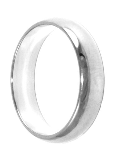 Unisex 24k White Gold/Rhodium Layered GL Wedding Ring Band 3mm ~ YOU CHOOSE SIZE ~ LIFETIME GUARANTEE (12) (wb6)