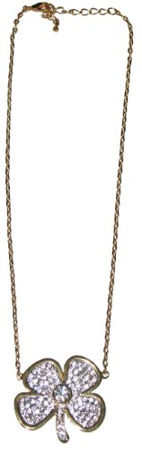 nOir Clover Pave Necklace (Gold)