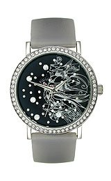 Ed Hardy Lovebirds Silicone Strap Black Dial Women's watch #LV-BK