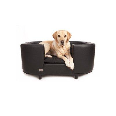 Hampton Dog Bed Size: Small (40cm H x 67cm W x 52cm L), Colour: Black / Slate
