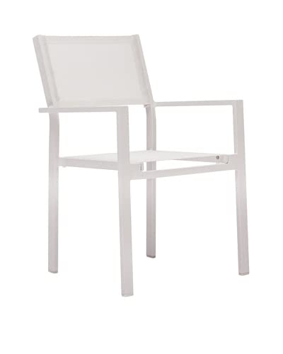 Zuo Outdoor Silver Strand Chair, White
