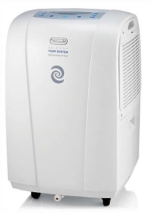 DeLonghi DE400P Energy-Star 40-Pint Dehumidifier with Pump