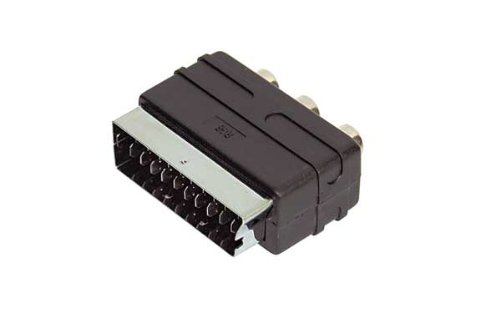 Adapter Video/ Audio-Scart-Adapter auf 3 Cinckupplungen RGB