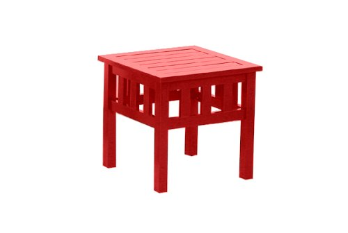 Carolina Cottage Coastal Side Table, Red