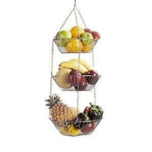 Panier Suspendu - Fruits et Légumes - Chrome - 71cm x 28cm ...