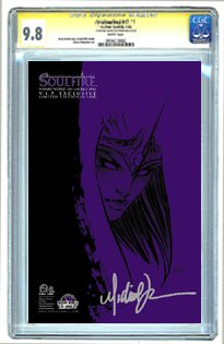 Soulfire #6 Wizard World Los Angeles VIP Variant 'Purple Negative' Sketch Cover Signed by Michael Turner CGC Signature 9.8 - Buy Soulfire #6 Wizard World Los Angeles VIP Variant 'Purple Negative' Sketch Cover Signed by Michael Turner CGC Signature 9.8 - Purchase Soulfire #6 Wizard World Los Angeles VIP Variant 'Purple Negative' Sketch Cover Signed by Michael Turner CGC Signature 9.8 (CGC, Toys & Games,Categories,Games,Card Games,Collectible Trading Card Games)